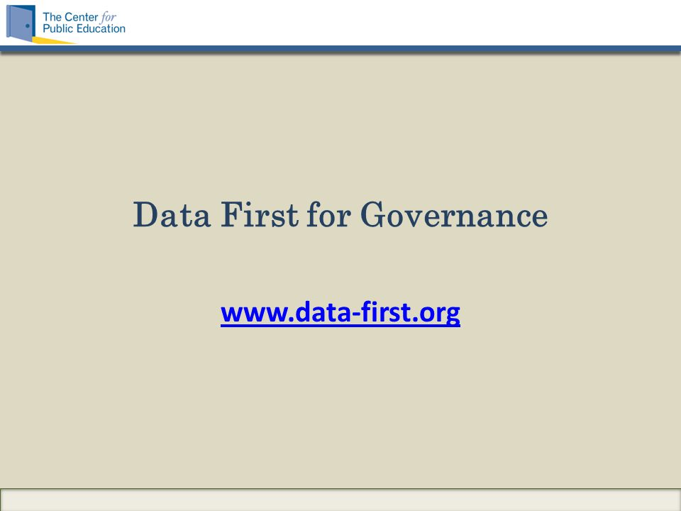 Data First for Governance www.data-first.org
