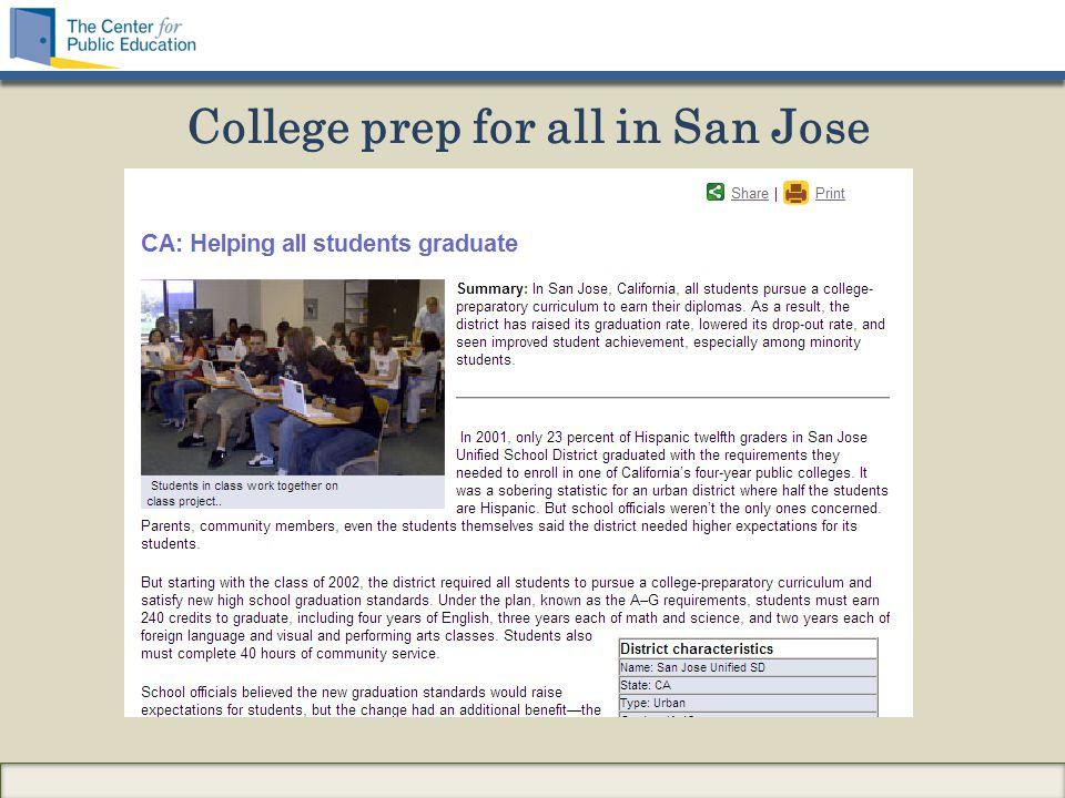 College prep for all in San Jose