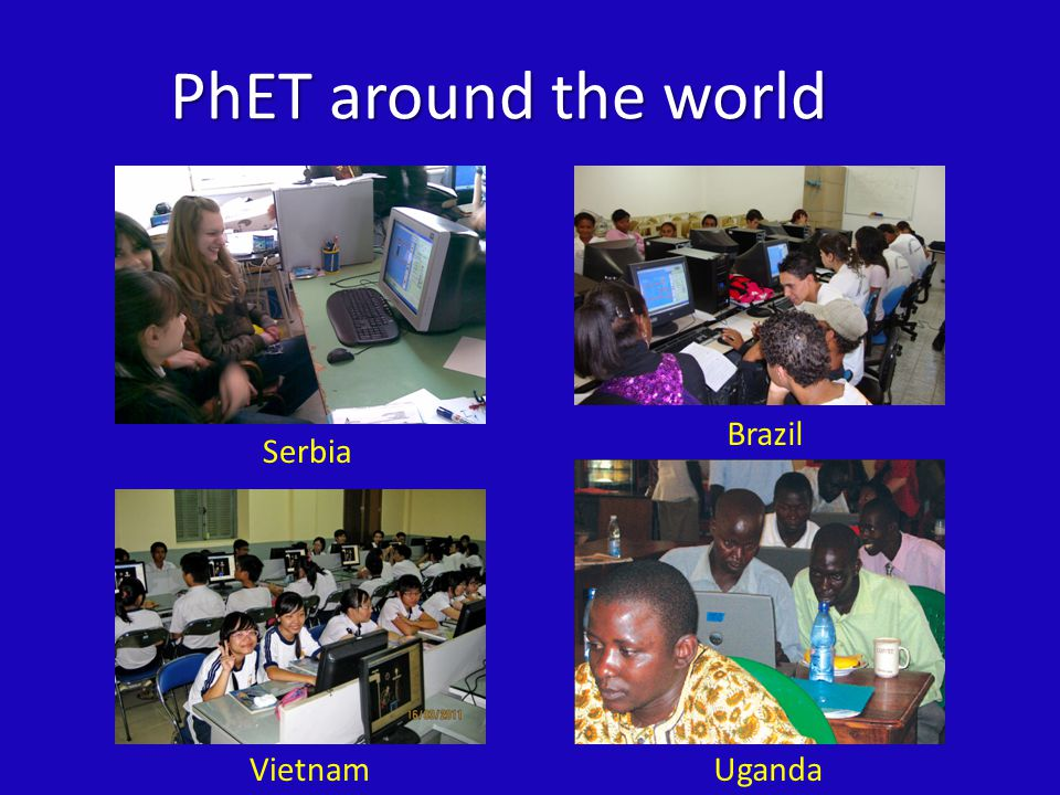 What is PhET's intended audience.