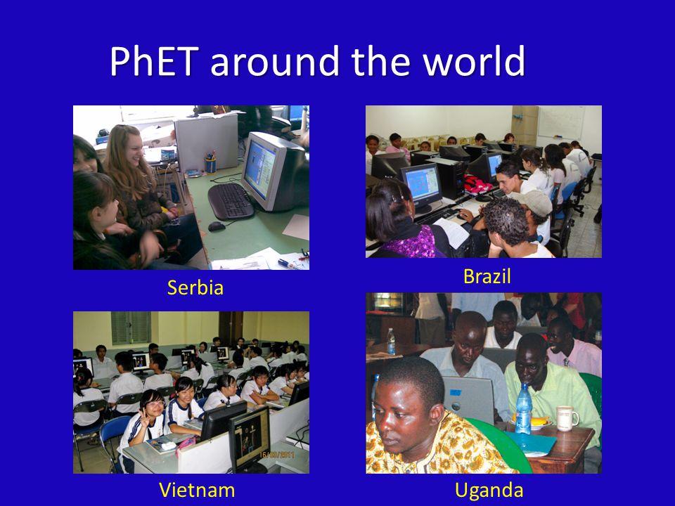 PhET around the world Serbia VietnamUganda Brazil