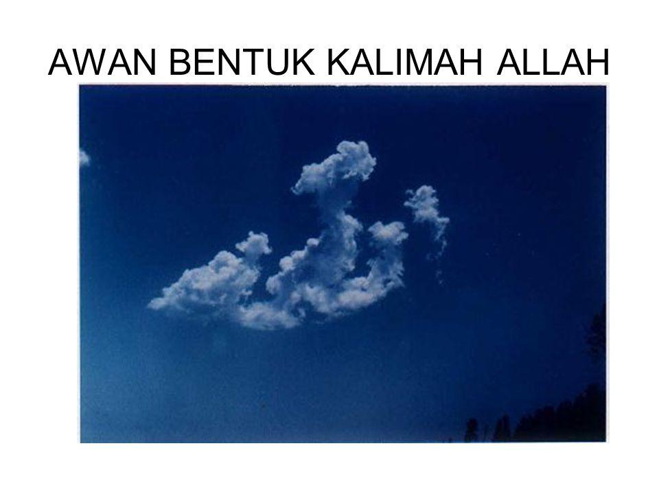 AWAN BENTUK KALIMAH ALLAH