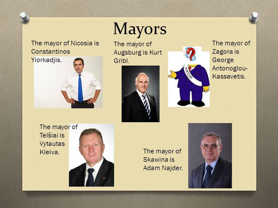 Mayors The mayor of Skawina is Adam Najder. The mayor of Telšiai is Vytautas Kleiva.