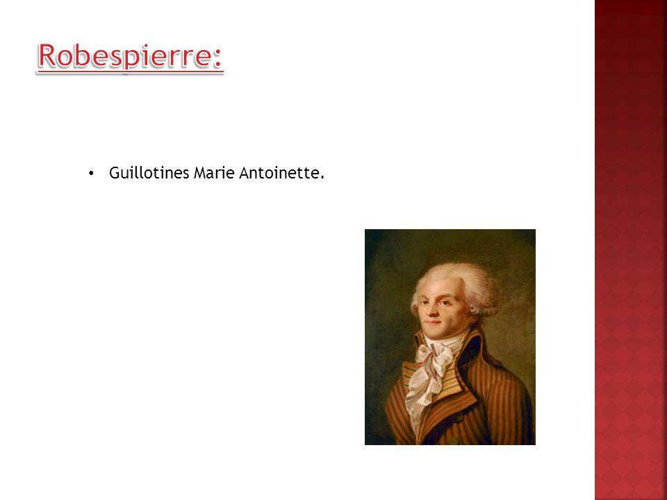 Guillotines Marie Antoinette.