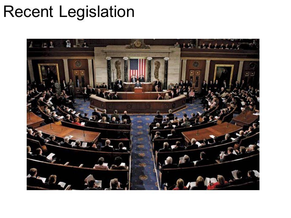 Recent Legislation