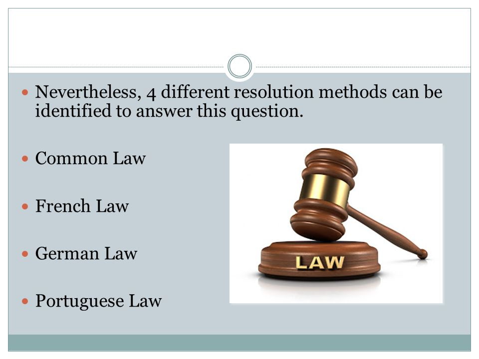 Nevertheless, 4 different resolution methods can be identified to answer this question.
