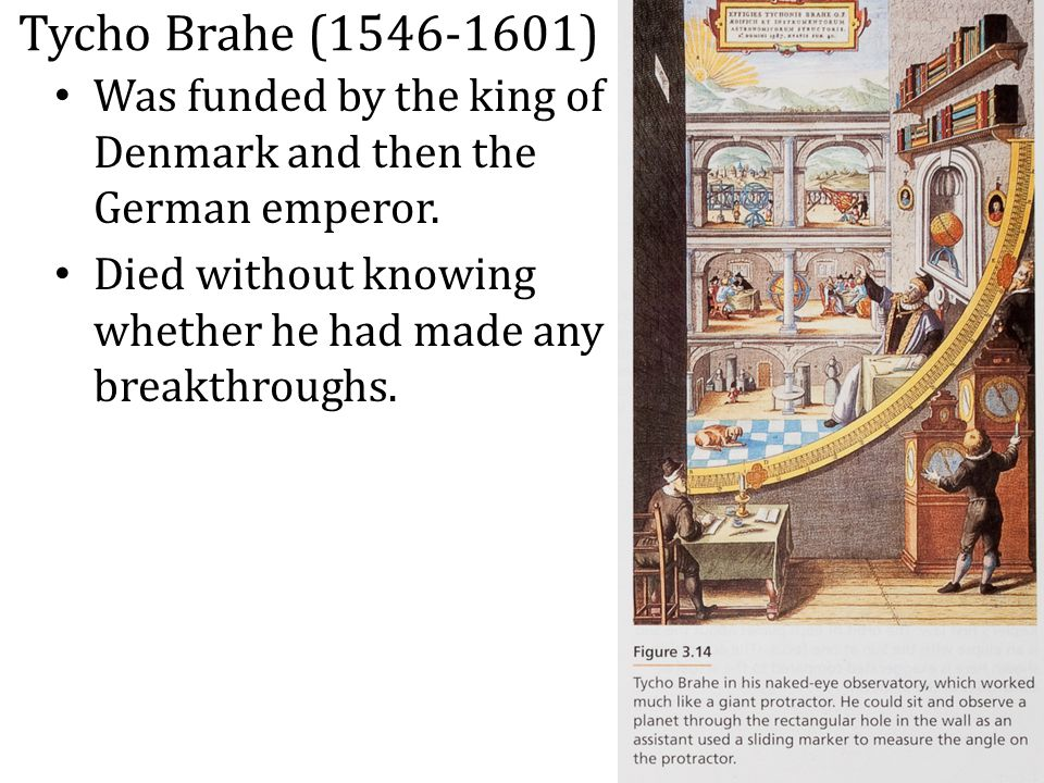 Tycho Brahe (1546-1601) Was funded by the king of Denmark and then the German emperor.