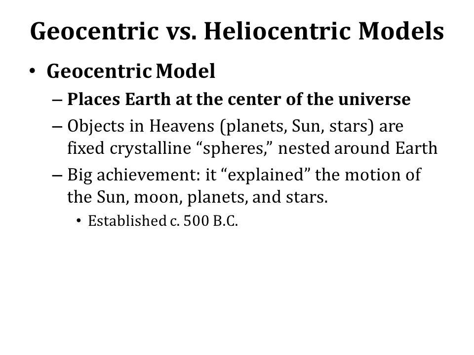 Geocentric vs.