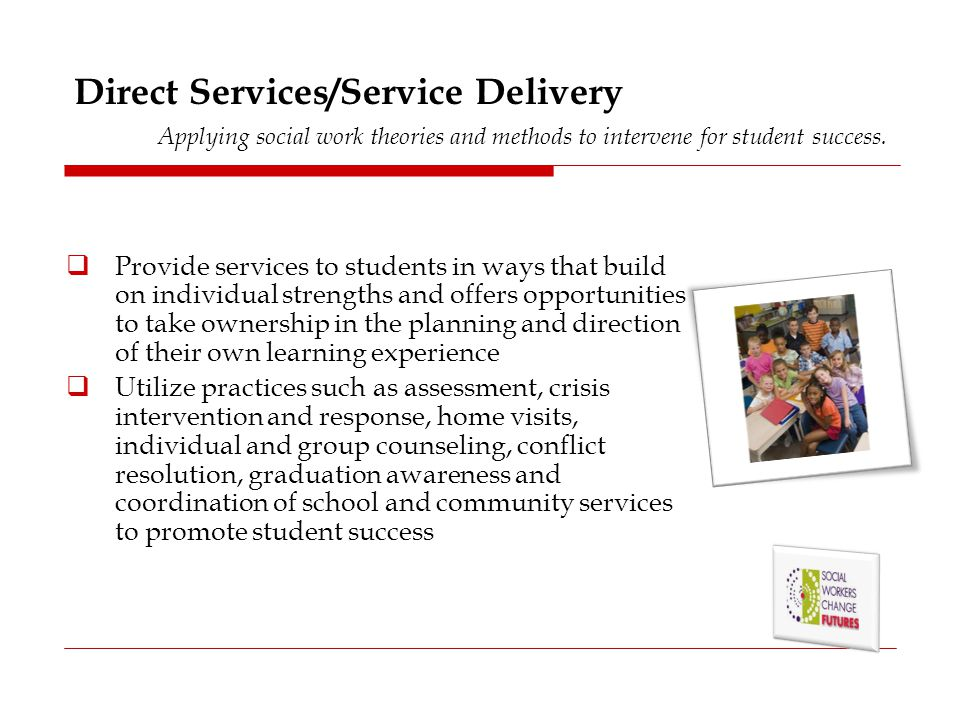 Advocacy Ensuring that appropriate services are in place for students and families.