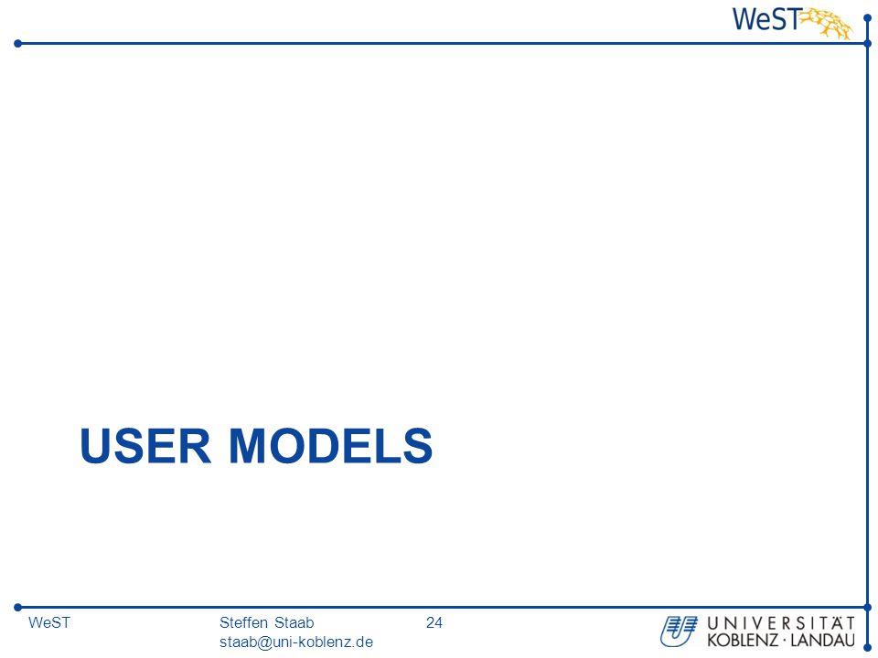 Steffen Staab staab@uni-koblenz.de 24WeST USER MODELS