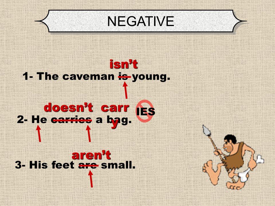 NEGATIVE TRANSFORM the sentences into NEGATIVE.