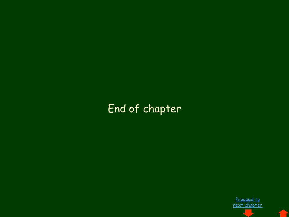 Proceed to next chapter End of chapter