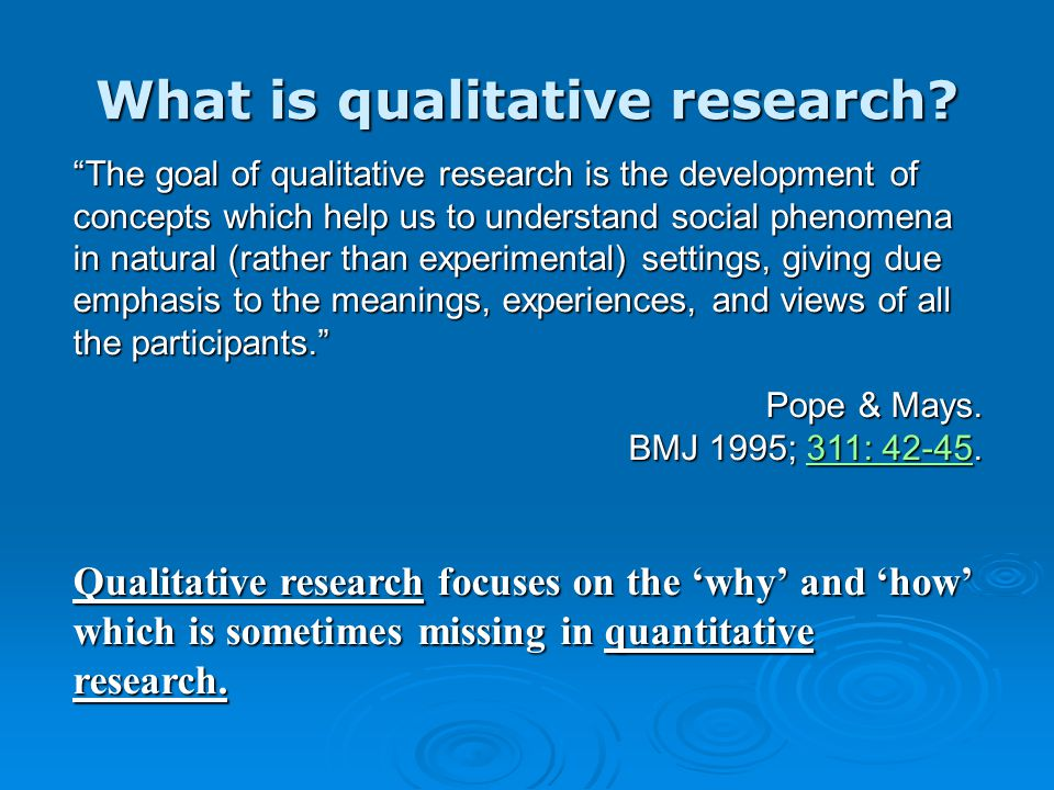 What is Qualitative Research. When to Conduct Qualitative Research.