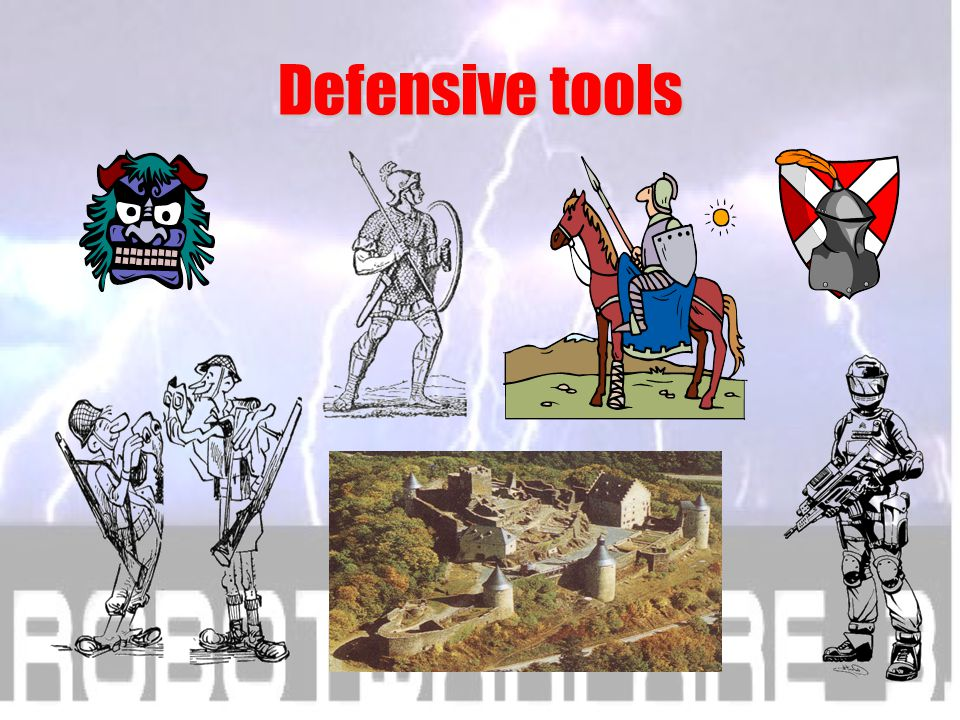 Selections from history of Military R&D Defensive tools and vehicles
