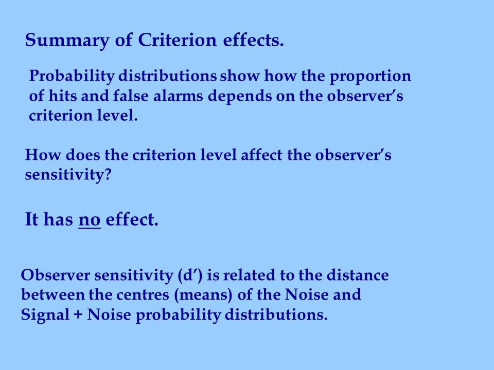 Summary of Criterion effects.