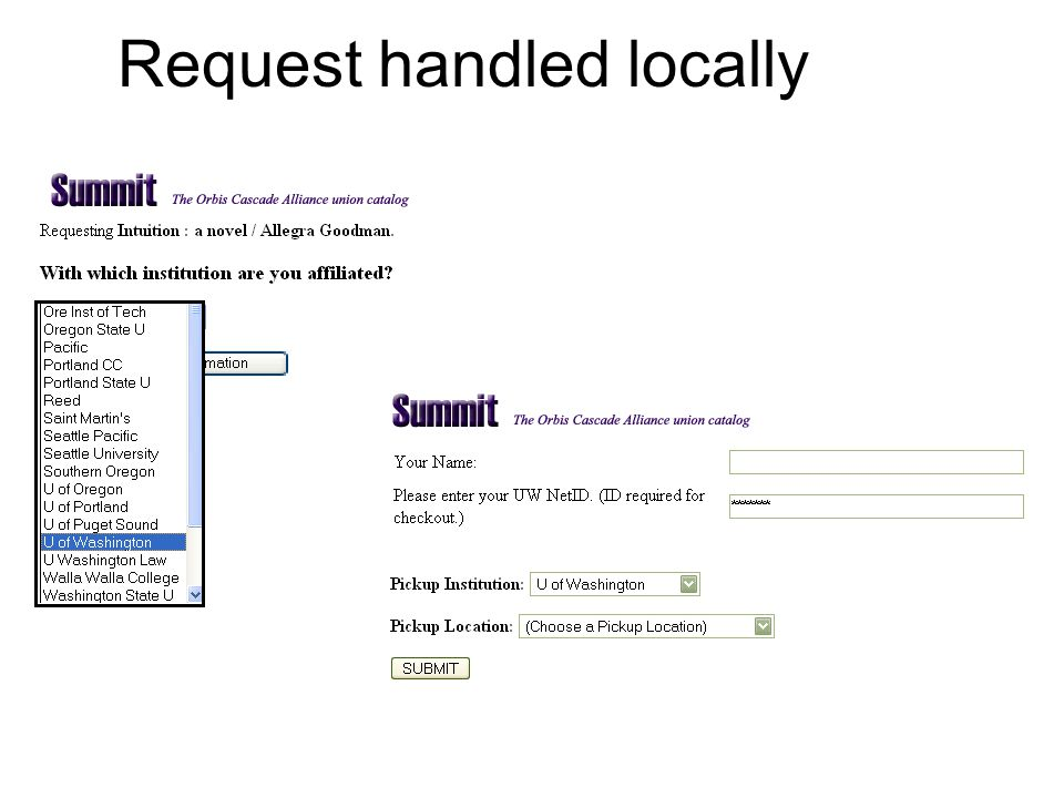 Request handled locally