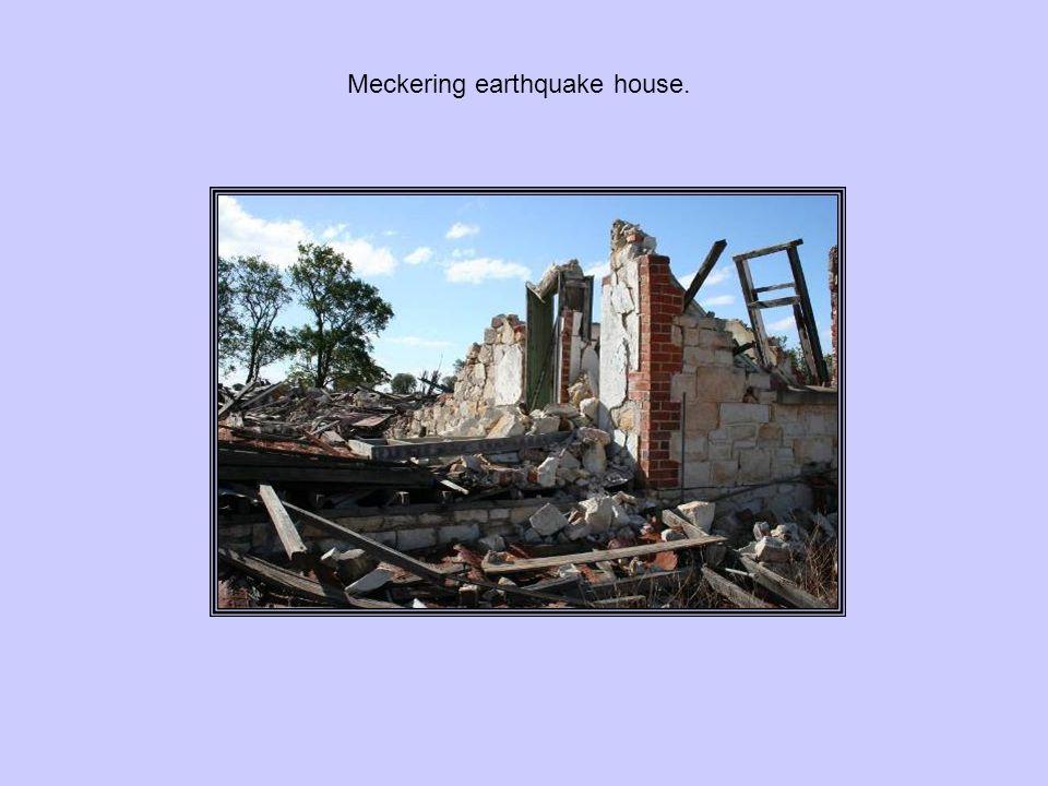 Meckering earthquake house.