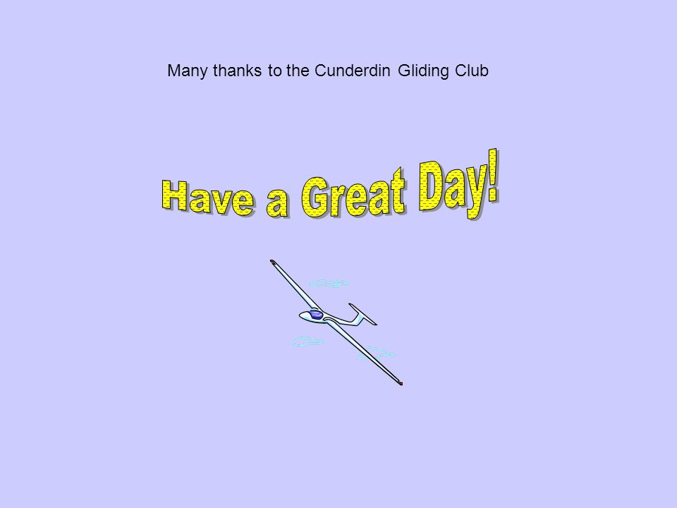 Many thanks to the Cunderdin Gliding Club