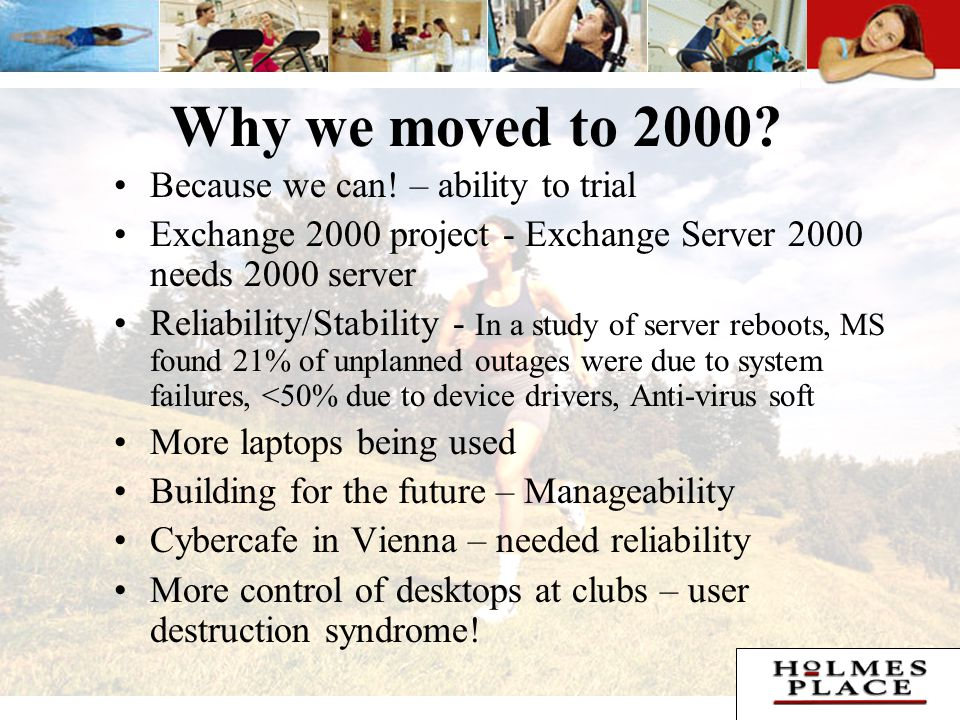Why we moved to 2000. Because we can.