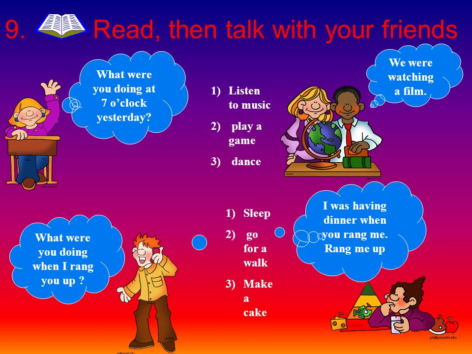 8. Read again and say yes or no. 1. Oscar was sleeping. yes/no 2. Children were visiting Manhattan. yes/no.