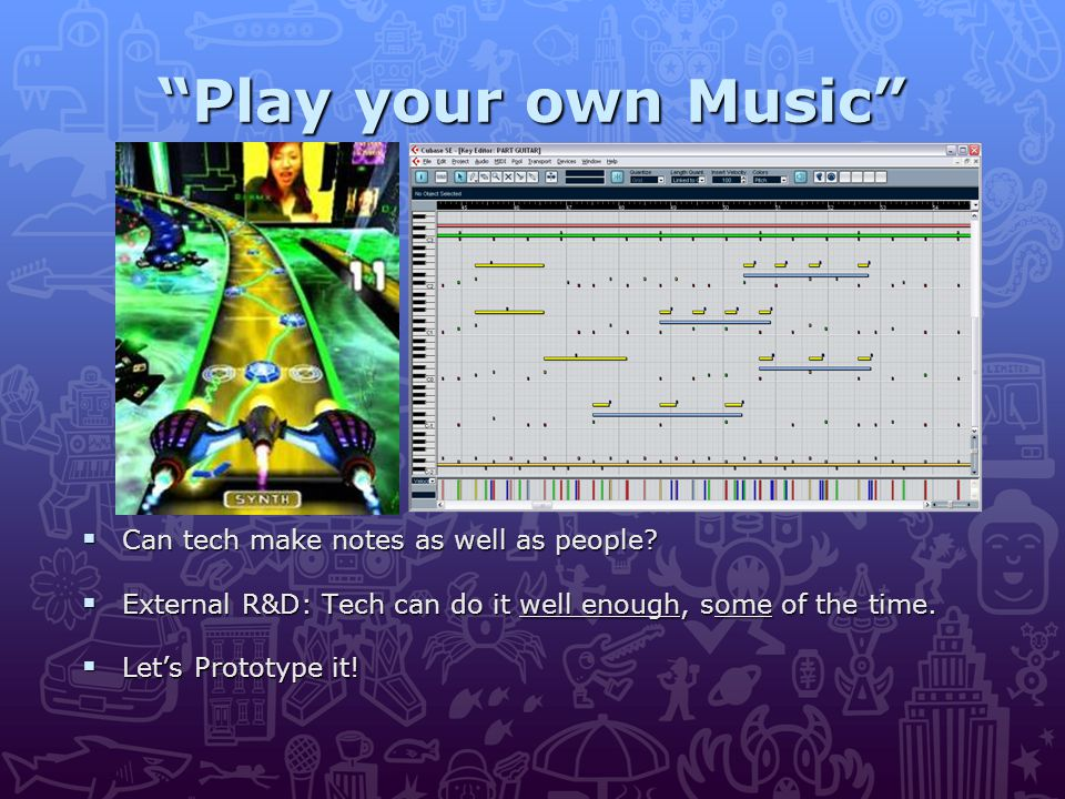 Play your own Music  Can tech make notes as well as people.