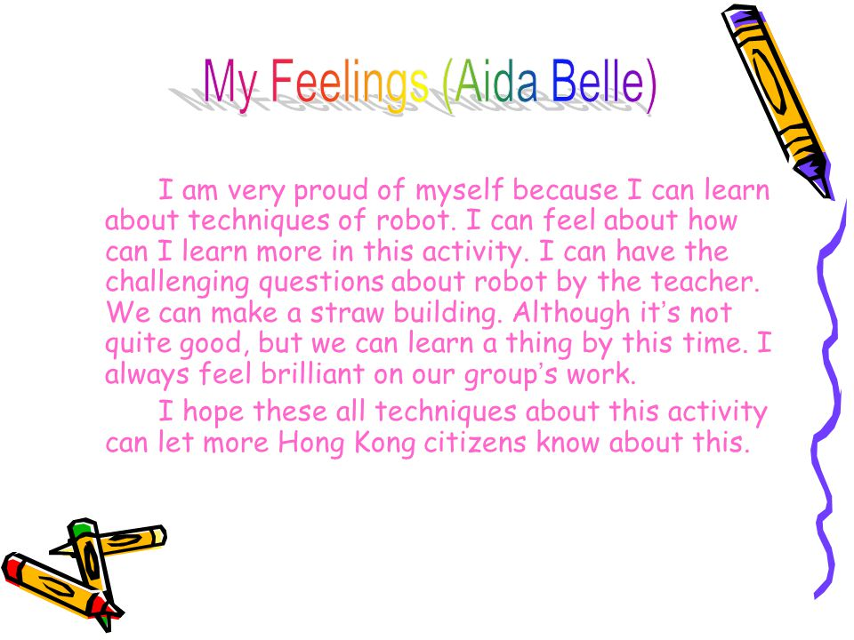 Finish this activity, I ' ve learnt about robot.