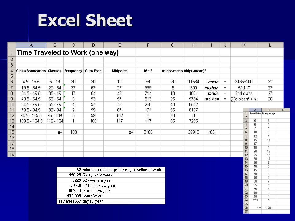 Excel Sheet