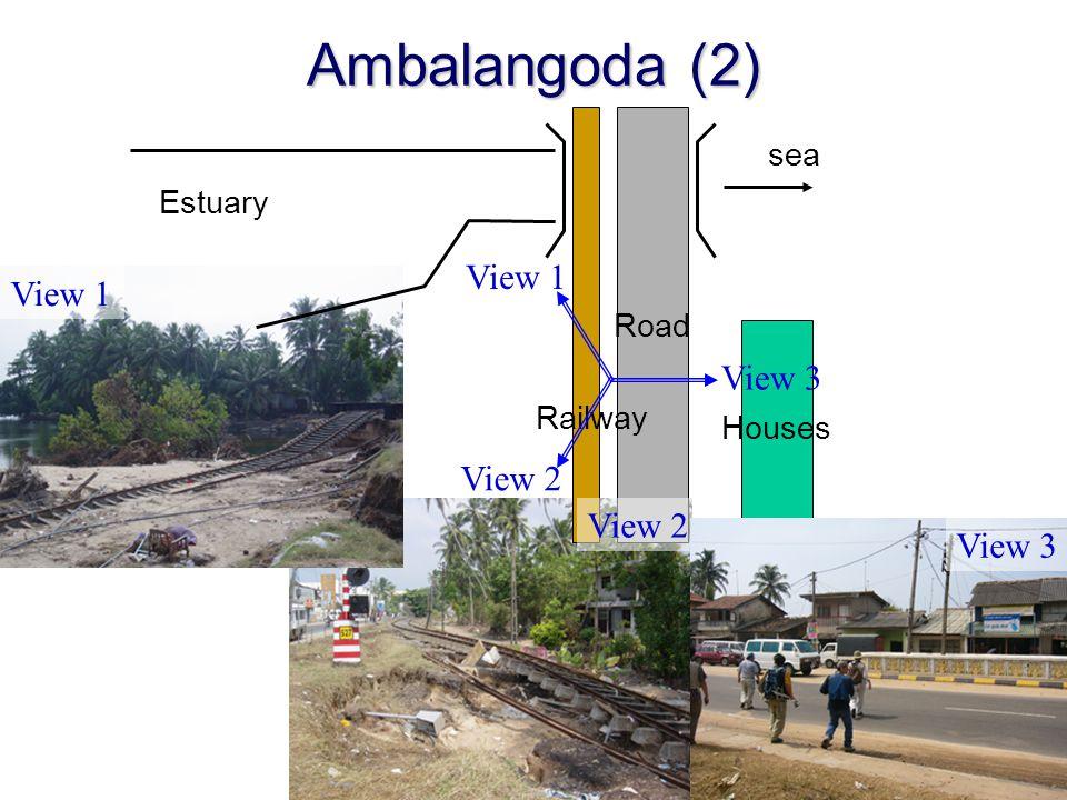 Houses Road Ambalangoda (2) View 2 Railway sea View 1 View 3 View 2 Estuary