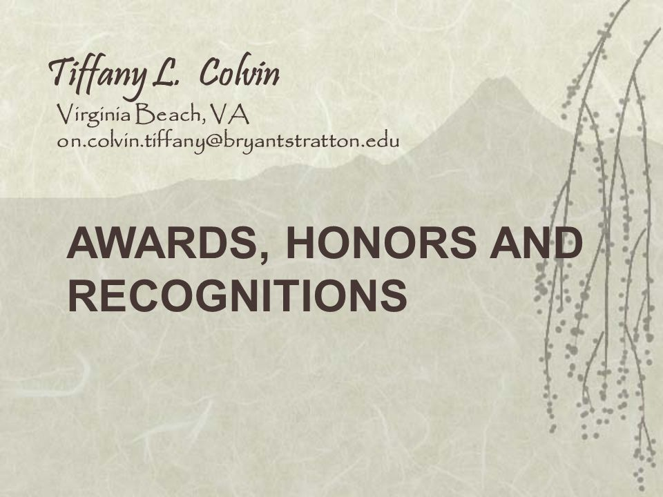 Nominee for alpha beta gamma honor society AWARDS, HONORS & RECOGNITION