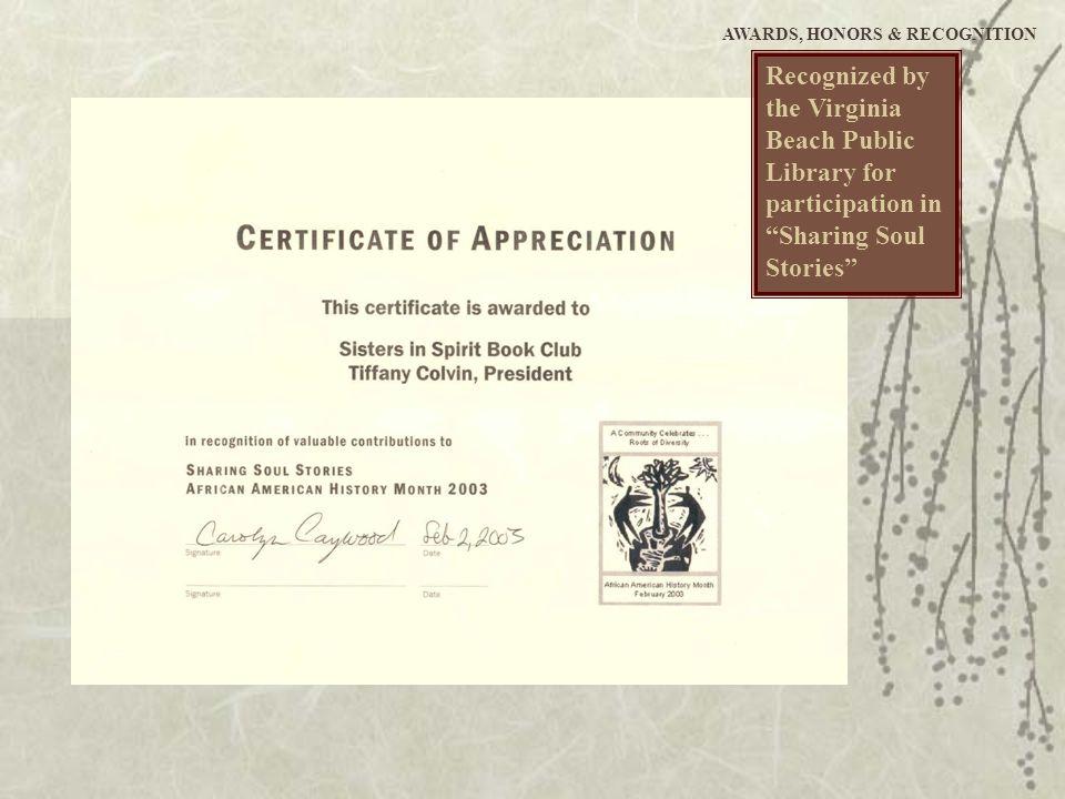 Tiffany L. Colvin COMMUNITY INVOVLEMENT Virginia Beach, VA on.colvin.tiffany@bryantstratton.edu