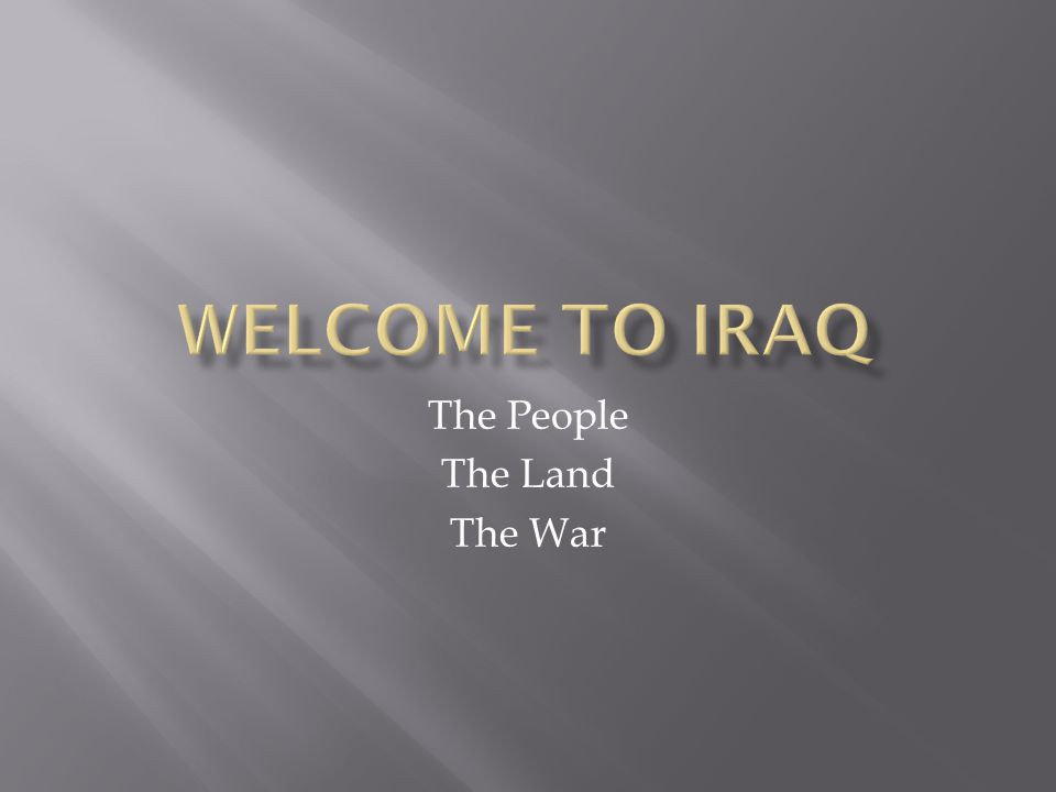 The People The Land The War