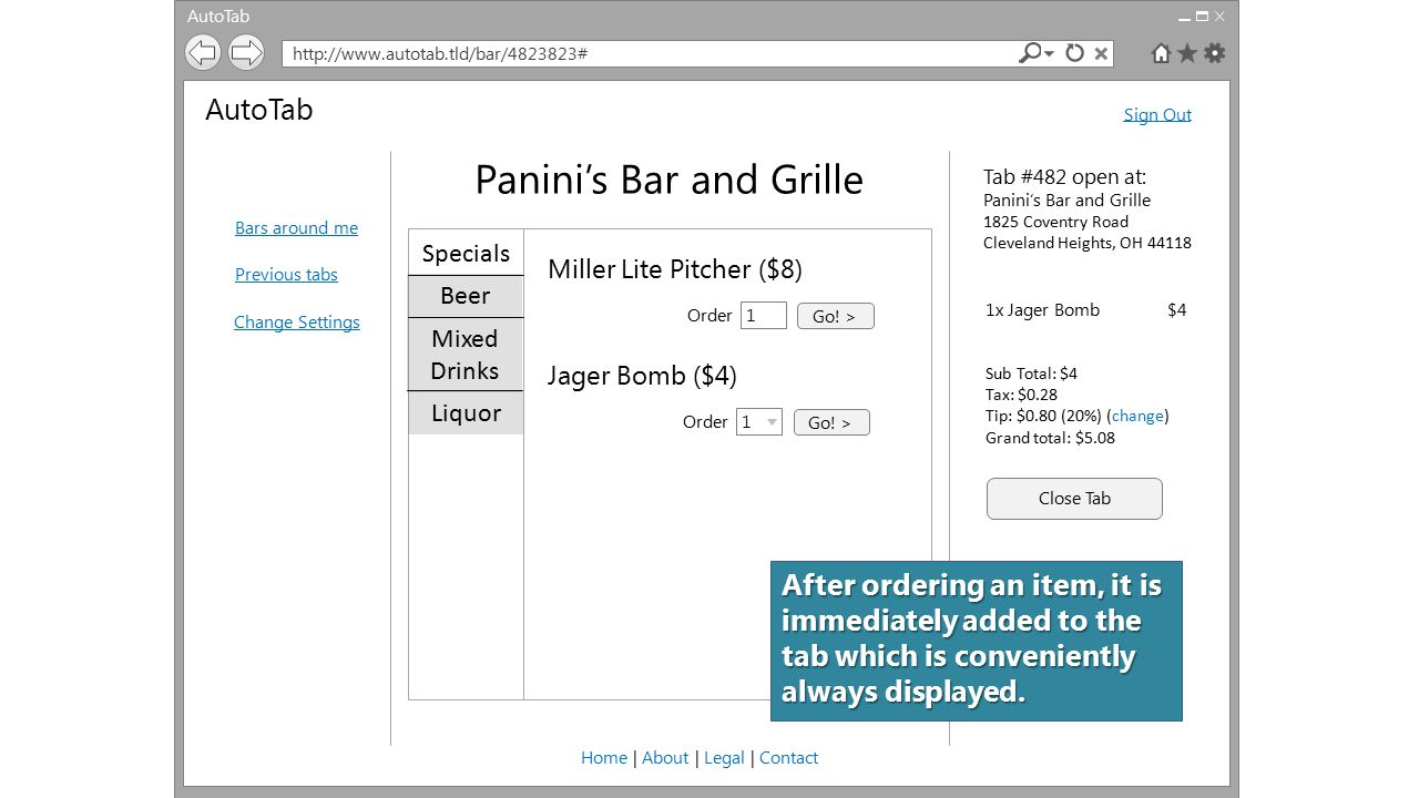 AutoTab http://www.autotab.tld/bar/4823823# AutoTab Bars around me Previous tabs Change Settings Sign Out Home | About | Legal | Contact Panini's Bar