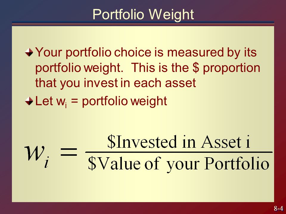 8-35 Calculus Problem Maximize the slope of the CAL subject to choosing a risk portfolio Differentiate w.r.t.