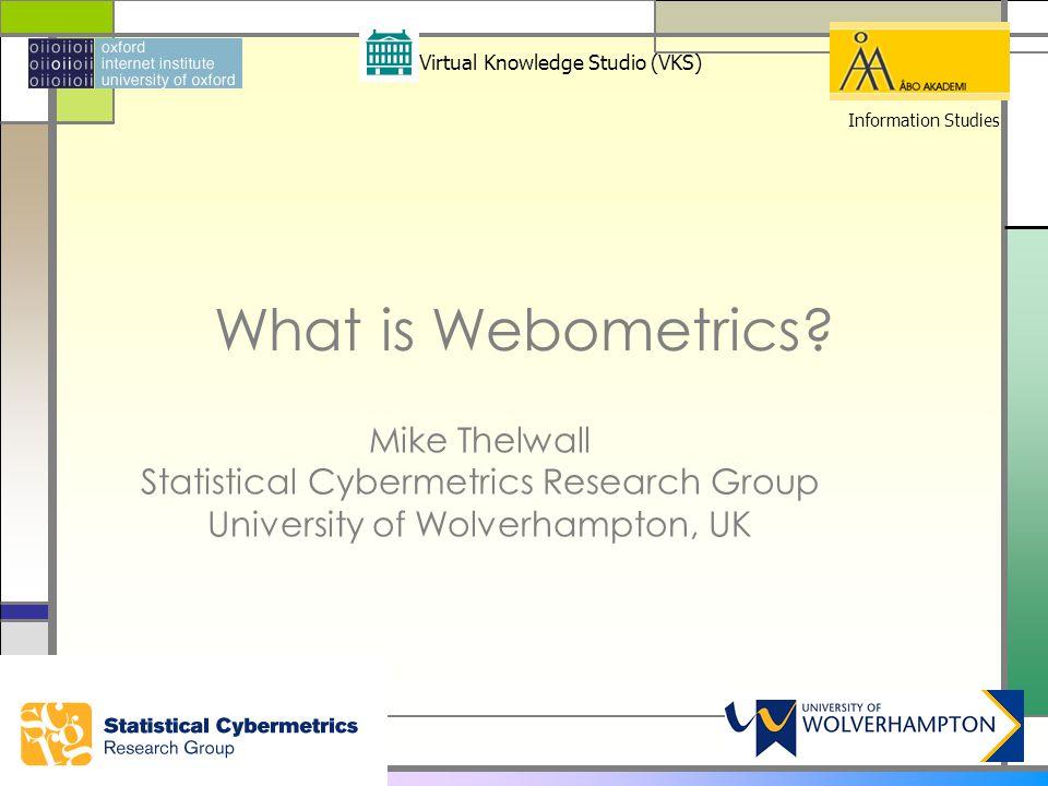 What is Webometrics.