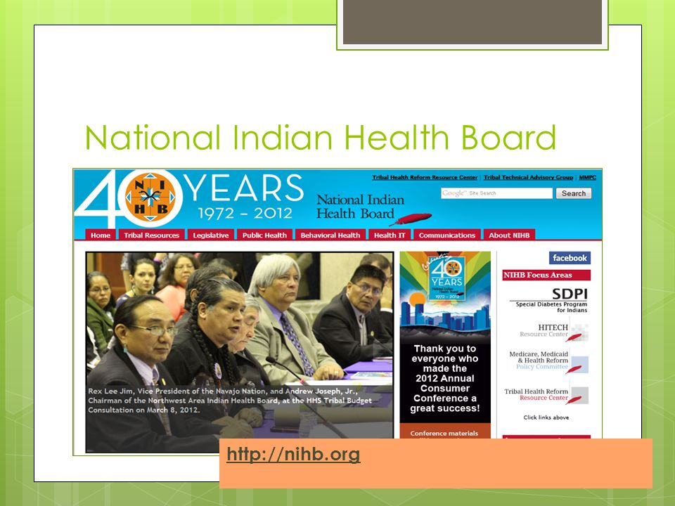 National Indian Health Board http://nihb.org