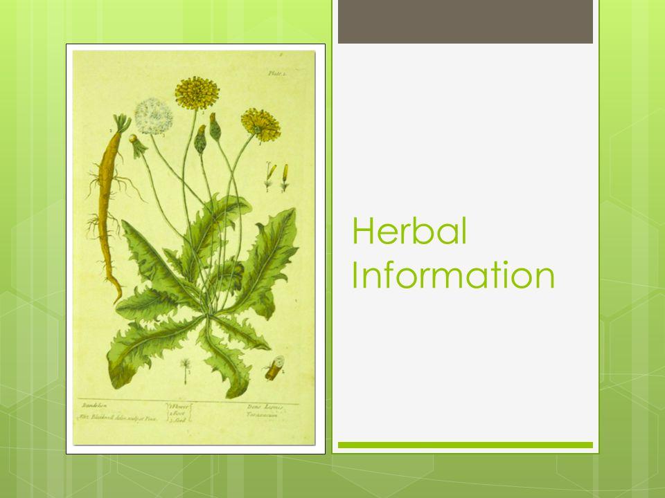 Herbal Information