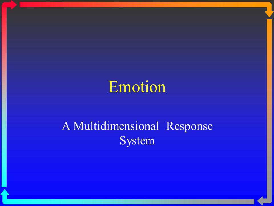 Emotion A Multidimensional Response System
