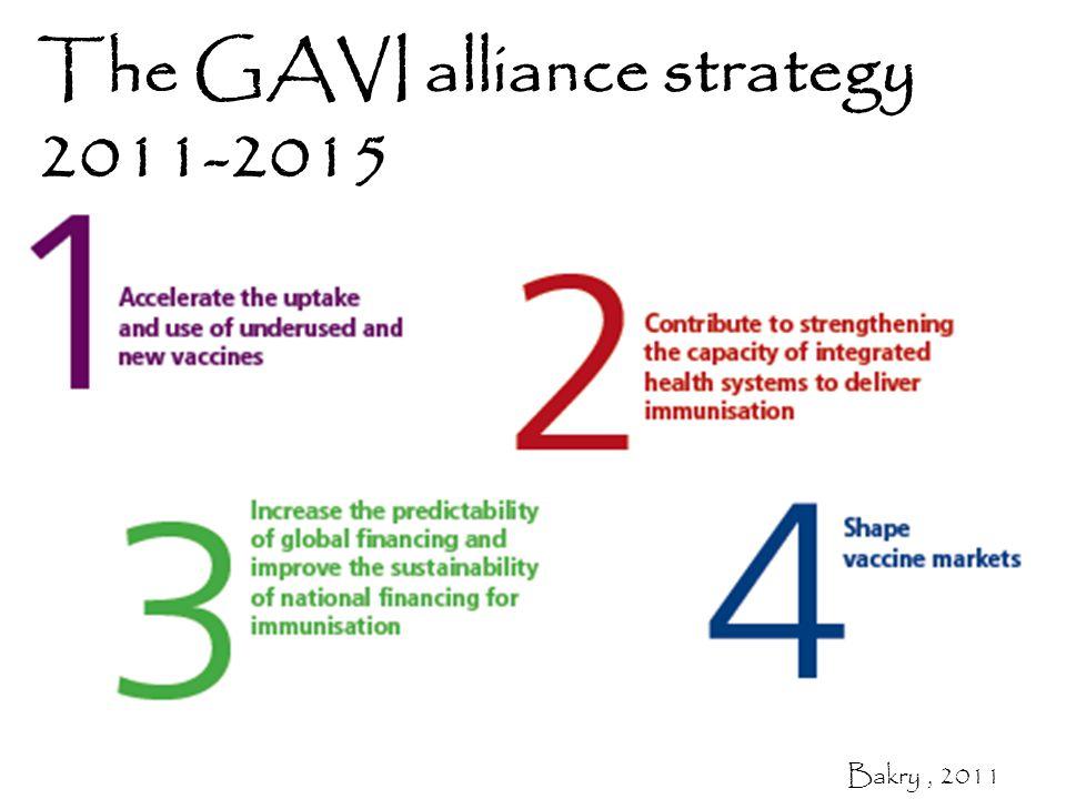 The GAVI alliance strategy 2011-2015 Bakry, 2011