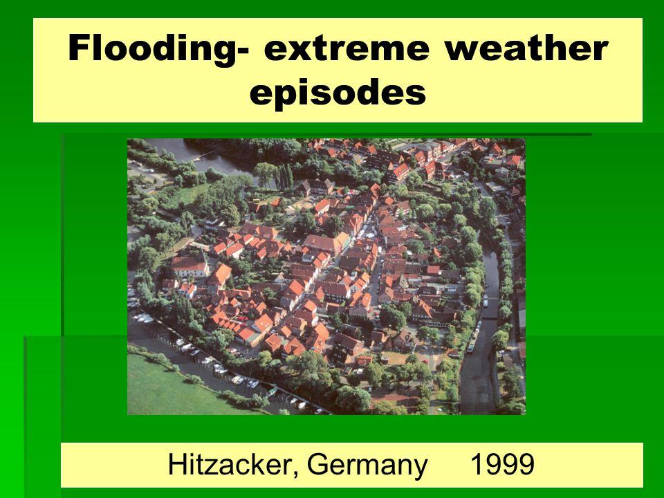 Flooding- extreme weather episodes Hitzacker, Germany 1999