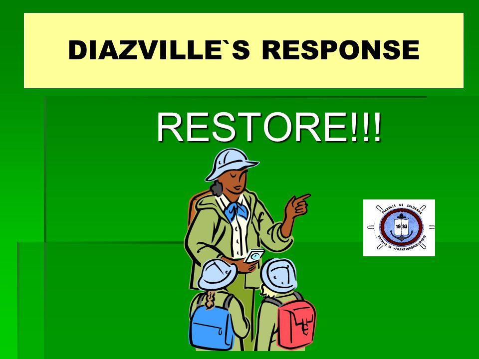 RESTORE!!! DIAZVILLE's RESPONSE DIAZVILLE`S RESPONSE