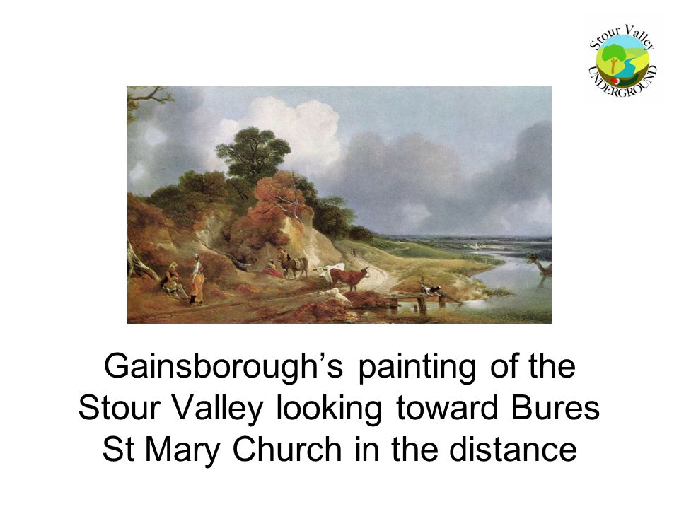 Gainsborough's painting of the Stour Valley looking toward Bures St Mary Church in the distance