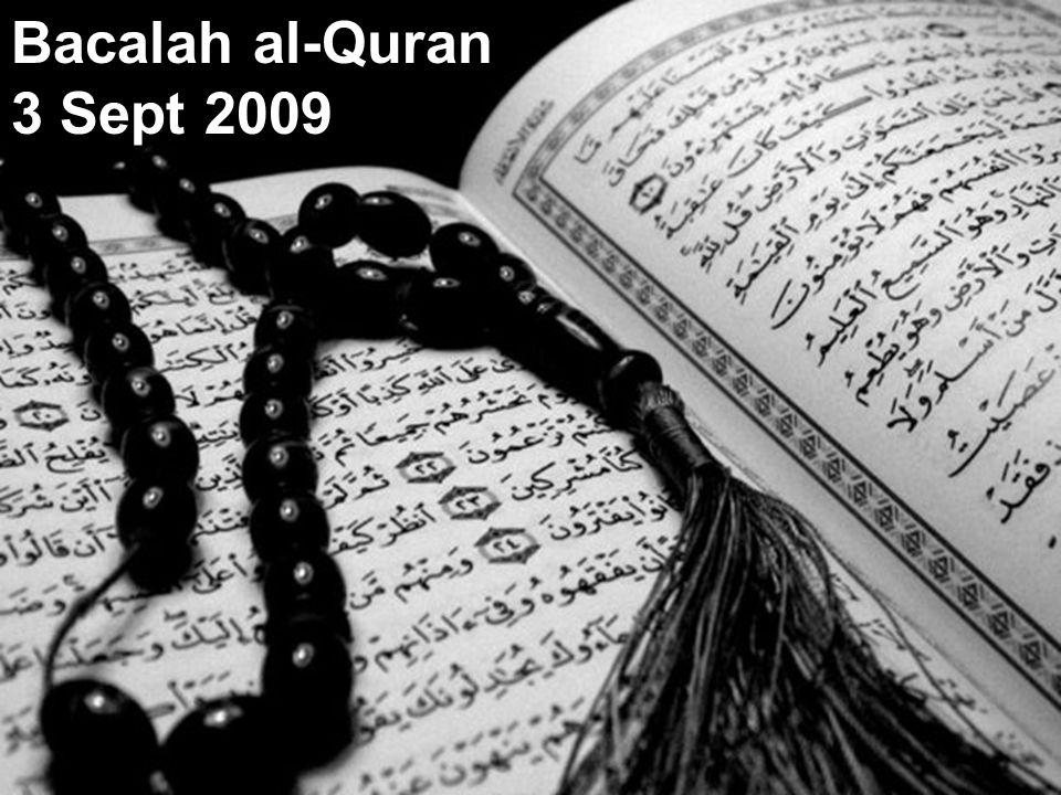 Bacalah al-Quran 3 Sept 2009