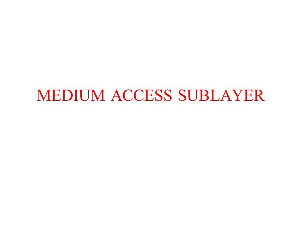 MEDIUM ACCESS SUBLAYER
