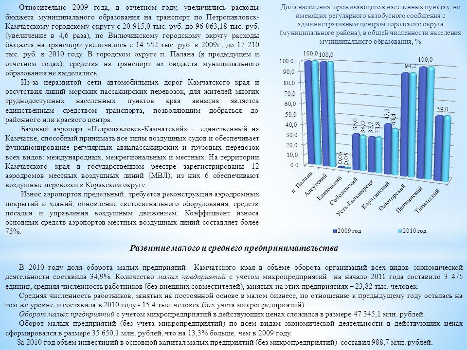 Относительно 2009 года, в отчетном году, увеличились расходы бюджета муниципального образования на транспорт по Петропавловск- Камчатскому городскому округу с 20 915,0 тыс.