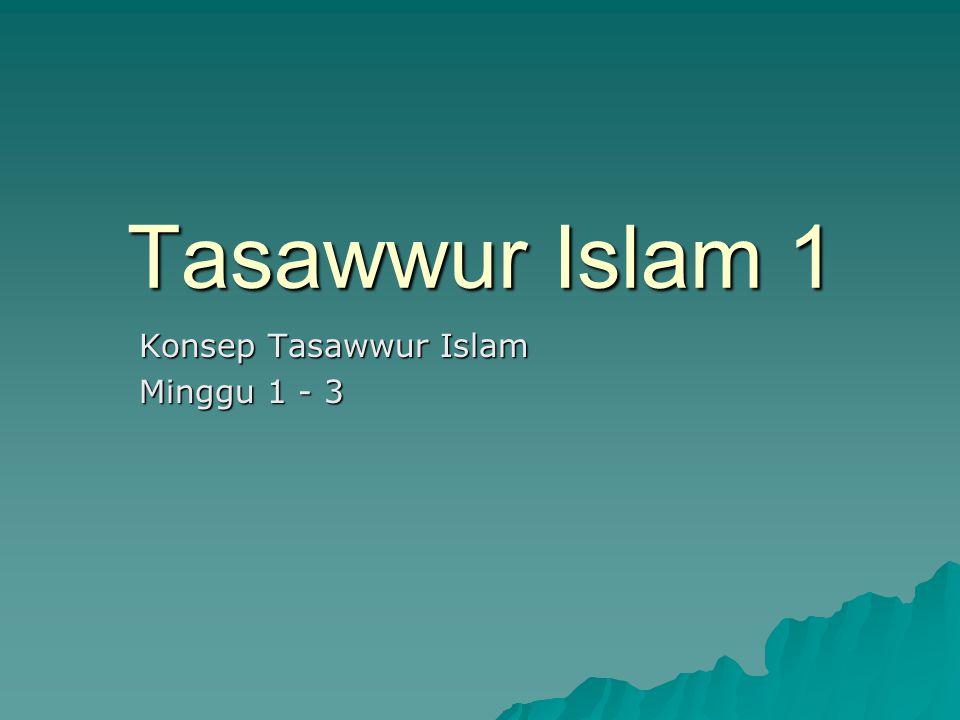 Tasawwur Islam 1 Konsep Tasawwur Islam Minggu 1 - 3