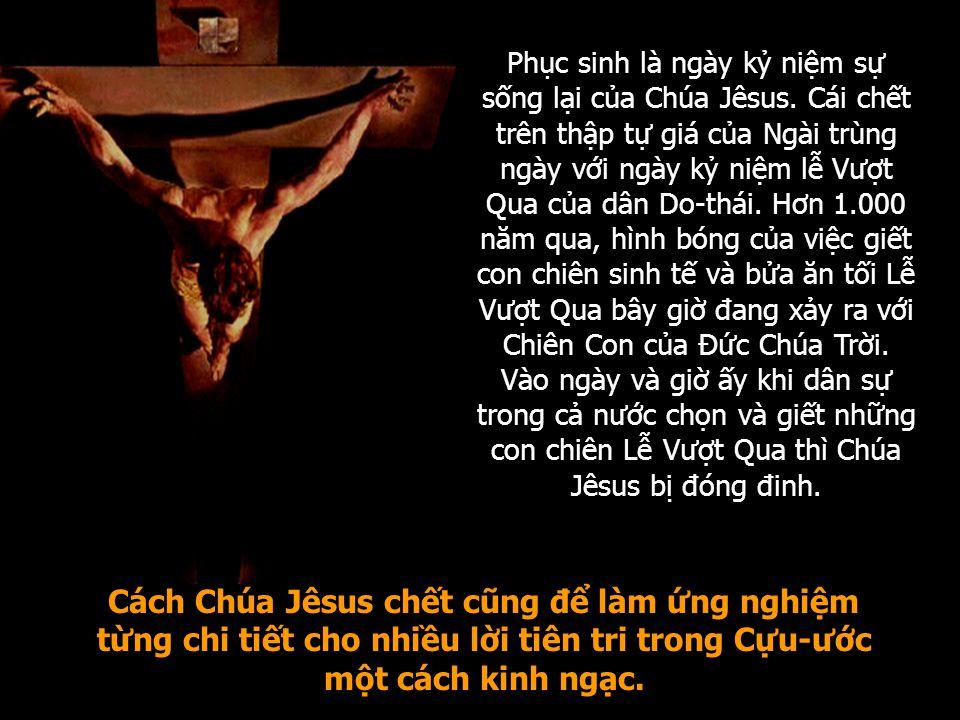 Phục sinh là ngày kỷ niệm sự sống lại của Chúa Jêsus.