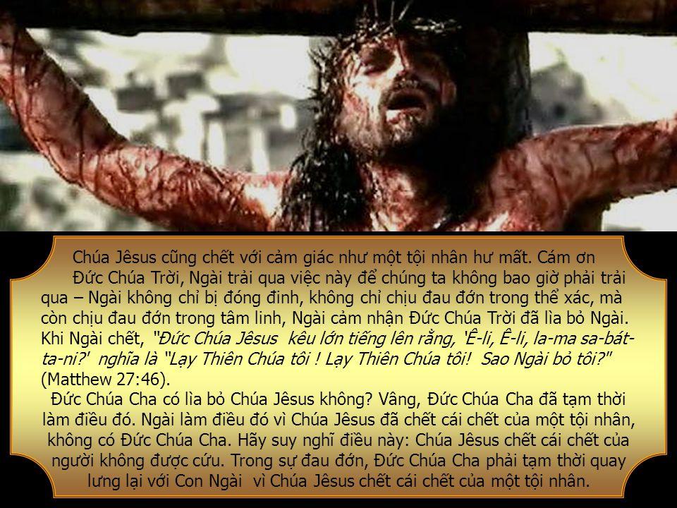 Chúa Jêsus cũng chết với cảm giác như một tội nhân hư mất.