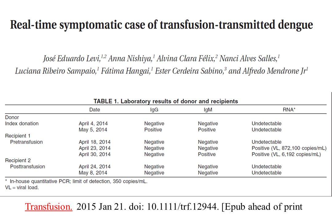 Transfusion.Transfusion. 2015 Jan 21. doi: 10.1111/trf.12944. [Epub ahead of print