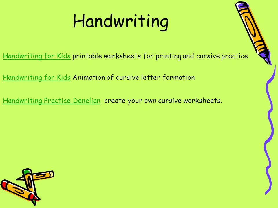 Handwriting Handwriting for KidsHandwriting for Kids printable worksheets for printing and cursive practice Handwriting for KidsHandwriting for Kids A