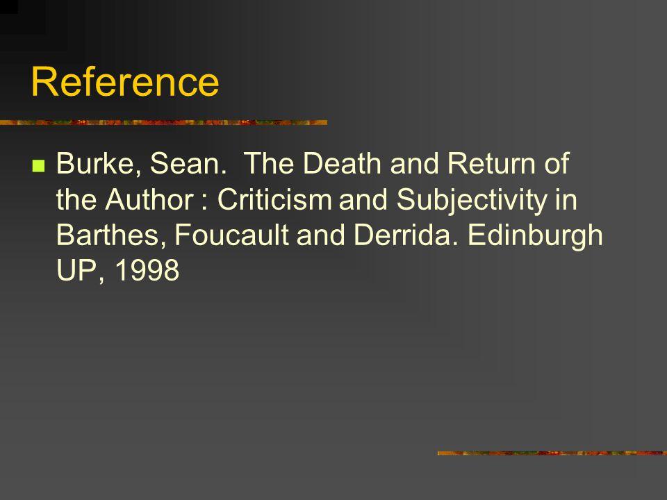 Reference Burke, Sean.