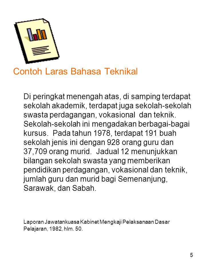 6 Contoh Laras Bahasa Undang-Undang PERLEMBAGAAN UNIVERSITI PERTANIAN MALAYSIA AKTA UNVERSITI PERTANIAN MALAYSIA (PEPERIKSAAN) 1980 PERATURAN- PERATURAN UNIVERSITI PERTANIAN MALAYSIA (RAYUAN 1987) Pada menjalankan kuasa-kuasa yang diberi oleh perenggan 12 Akta Universiti Pertanian Malaysia (Peperiksaan) 1980, Senat Universiti Pertanian Malaysia membuat peraturan yang berikut: Nama dan Mula Berkuatkuasa: 1.Peraturan ini bolehlah dinamakan Peraturan Universiti Pertanian Malaysia(Rayuan) 1987dan hendaklah disifatkan sebagai mula berkuatkuasa pada tarikh yang ditetapkan oleh Senat.